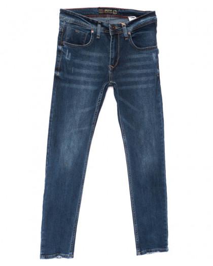 6156 Destry джинсы мужские с царапкой синие весенние стрейчевые (29-36, 8 ед.) Destry