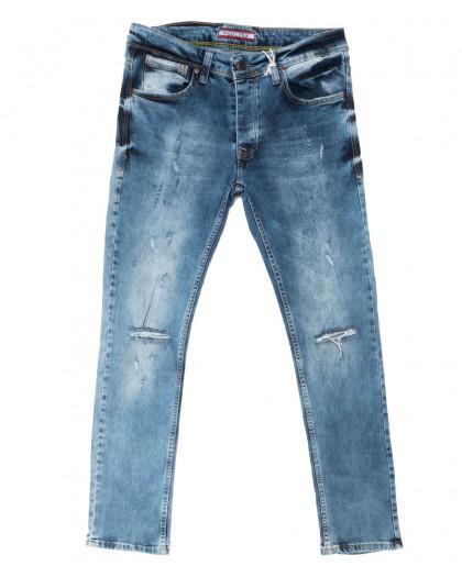 4389 Redcode джинсы мужские с рванкой синие весенние стрейчевые (29-36, 8 ед.) Redcode