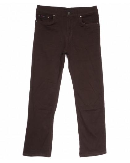 3035-D LS джинсы мужские батальные коричневые весенние стрейчевые (34-44, 8 ед.) LS