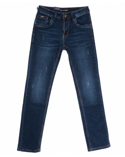 1051 LS джинсы мужские с царапкой синие весенние стрейчевые (29-38, 8 ед.) LS