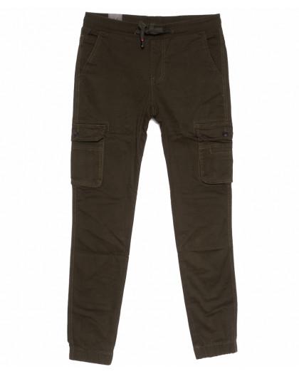 3008-А LS брюки мужские молодежные коричневые весенние стрейчевые (27-34, 8 ед.) LS