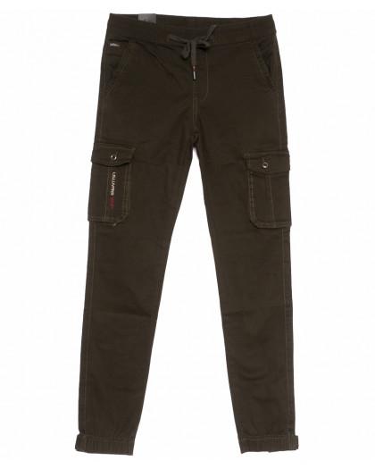 3009-А LS брюки мужские молодежные коричневые весенние стрейчевые (27-34, 8 ед.) LS