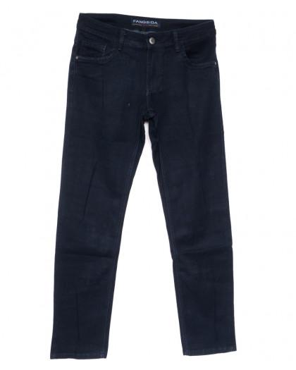 4054 Fangsida джинсы мужские полубатальные темно-синие весенние стрейчевые  (32-38, 8 ед.) Fangsida