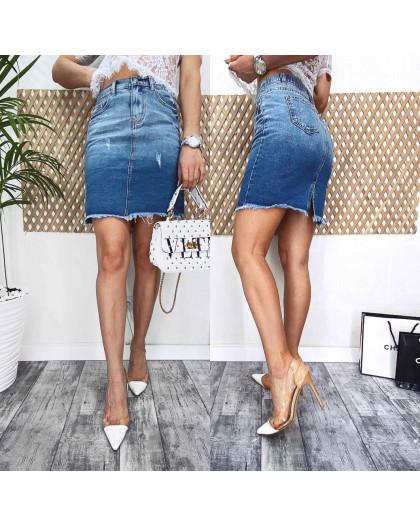 3725 New Jeans юбка джинсовая синяя весенняя коттоновая (25-30, 6 ед.) New Jeans