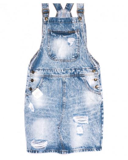 3307-5 Y Relucky сарафан джинсовый голубой весенний котоновый (25-30, 6 ед.) Relucky