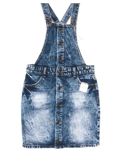 3300-5 Y Relucky сарафан джинсовый синий весенний котоновый (25-30, 6 ед.) Relucky