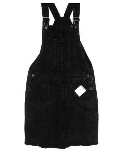 3316-5 Y Relucky сарафан джинсовый темно-серый весенний котоновый (25-30, 6 ед.) Relucky