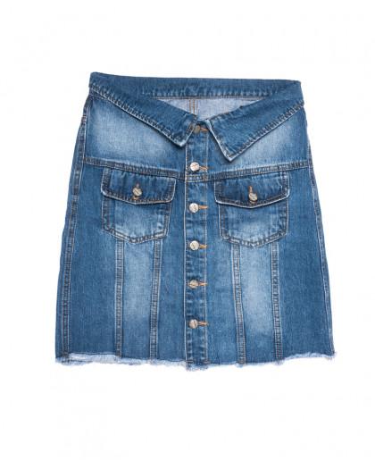 9900-5 V Relucky юбка джинсовая синяя весенняя стрейчевая (25-30, 6 ед.) Relucky