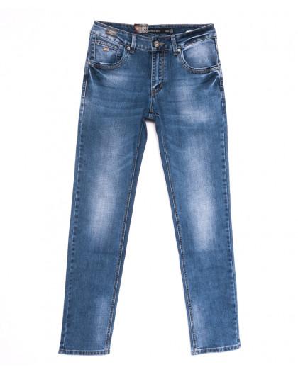 9446 God Baron джинсы мужские с теркой синие весенние стрейчевые (30-38, 8 ед.) God Baron