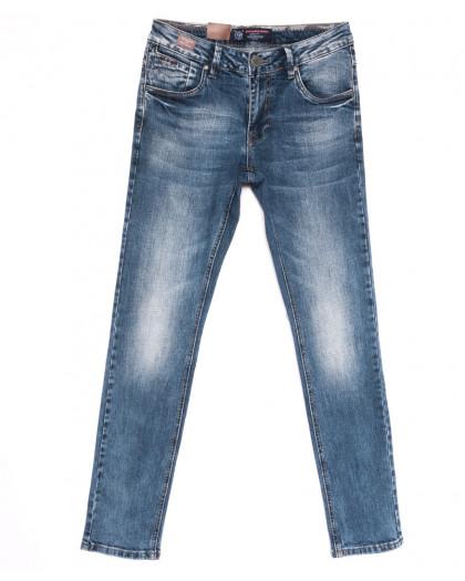 9436 God Baron джинсы мужские молодежные с теркой синие весенние стрейчевые (28-36, 8 ед.) God Baron