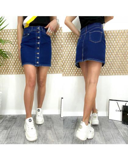 0063 Arox юбка джинсовая на пуговицах синяя весенняя котоновая (34-40, евро, 4 ед.) Arox