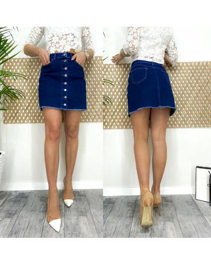 0590-2 Arox юбка джинсовая на пуговицах темно-синяя весенняя стрейчевая (34-40, евро, 4 ед.) Arox