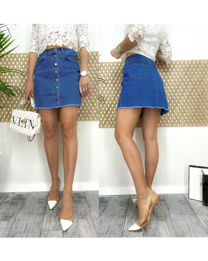 0055-01 Arox юбка джинсовая на пуговицах весенняя котоновая (34-40, евро, 4 ед.) Arox