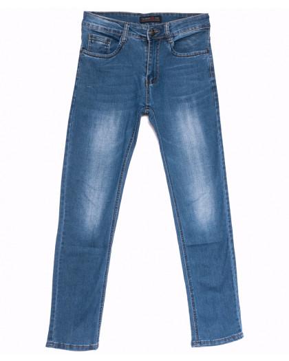 6004 Pobeda джинсы мужские синие весенние стрейчевые (29-38, 8 ед.) Pobeda