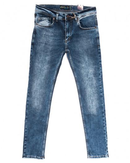 6658 Blue Nil джинсы мужские с царапками синие весенние стрейчевые (29-36, 8 ед.) Blue Nil