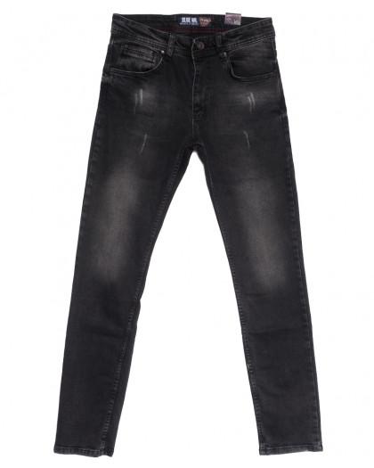 6674 Blue Nil джинсы мужские с царапками серые весенние стрейчевые (29-36, 8 ед.) Blue Nil