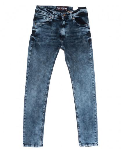 6692 Redcode джинсы мужские с царапками синие весенние стрейчевые (29-36, 8 ед.) Redcode