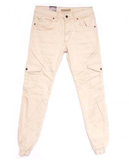 4012 Blue Nil джинсы мужские на резинке бежевые весенние стрейчевые (29-36, 8 ед.) Blue Nil