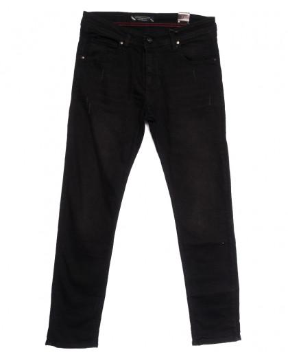 6487 Fashion Red джинсы мужские полубатальные черные весенние стрейчевые (32-40, 8 ед.) Fashion Red