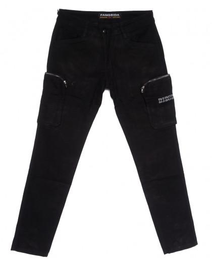 2113 Fangsida джинсы мужские молодежные черные весенние стрейчевые (28-34, 8 ед.) Fangsida