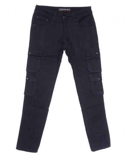 2111 Fangsida джинсы мужские молодежные темно-синие весенние стрейчевые (27-34, 8 ед.) Fangsida