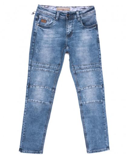 8350 Fangsida джинсы мужские с царапками синие весенние стрейчевые (29-38, 8 ед.) Fangsida
