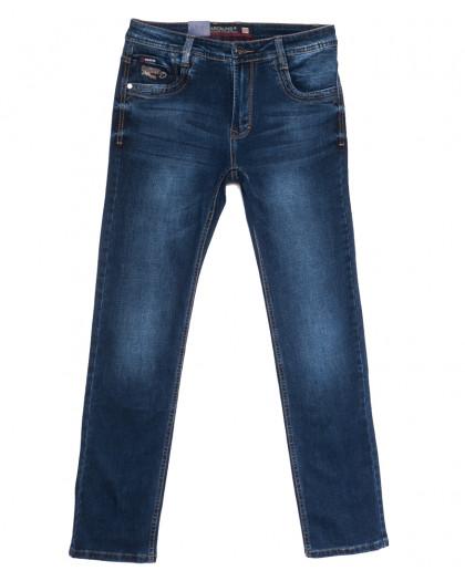 9329 Baron джинсы мужские полубатальные синие весенние стрейчевые (32-38, 8 ед.) Baron