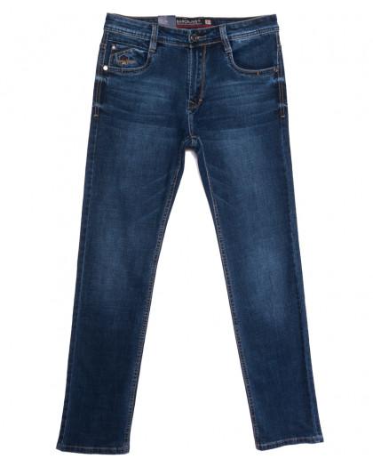 9328 Baron джинсы мужские полубатальные синие весенние стрейчевые (32-40, 8 ед.) Baron
