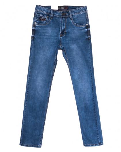 9380 Baron джинсы мужские полубатальные синие весенние стрейчевые (32-42, 8 ед.) Baron