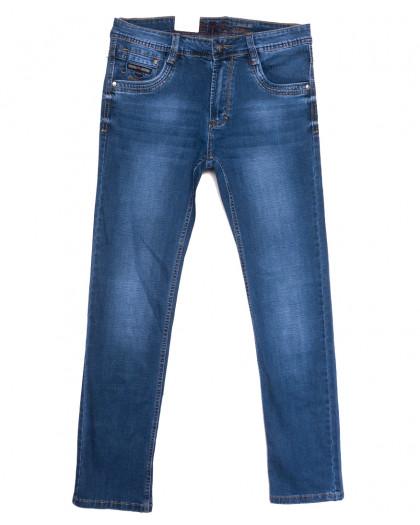 9388 Baron джинсы мужские полубатальные синие весенние стрейчевые (32-40, 8 ед.) Baron