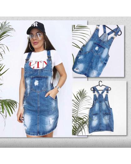 3304-5 Y Relucky сарафан джинсовый синий весенний котоновый (25-30, 6 ед.) Relucky