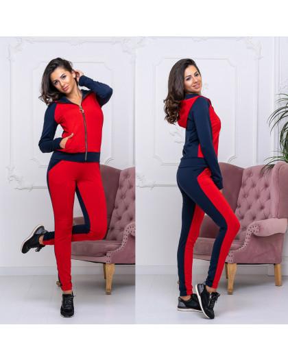 8008-03 красный женский спортивный костюм (42-48, 4 ед.) Костюм