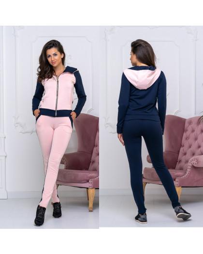 8008-02 розовый женский спортивный костюм (44,44,48, 3 ед.) Костюм
