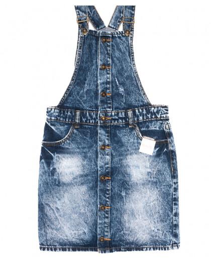 3300-5 Y Relucky сарафан джинсовый стильный синий весенний коттоновый (25-30, 6 ед.) Relucky