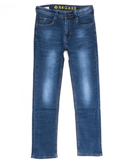 7895-03 Regass джинсы мужские синие весенние стрейчевые (30-38, 8 ед.) Regass