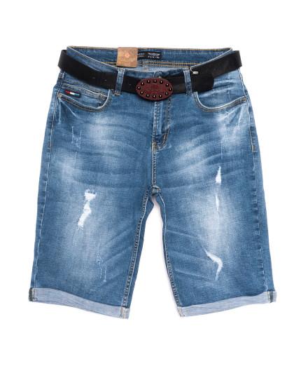 5552-5 А Relucky шорты джинсовые женские полубатальные синие стрейчевые (28-33, 6 ед.) Relucky