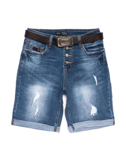 0119-6 А Relucky шорты джинсовые женские полубатальные синие стрейчевые (28-33, 6 ед.) Relucky