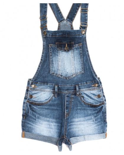 6609-2 Y Relucky комбинезон-шорты джинсовый синий летний стрейчевый (25-30, 6 ед.) Relucky