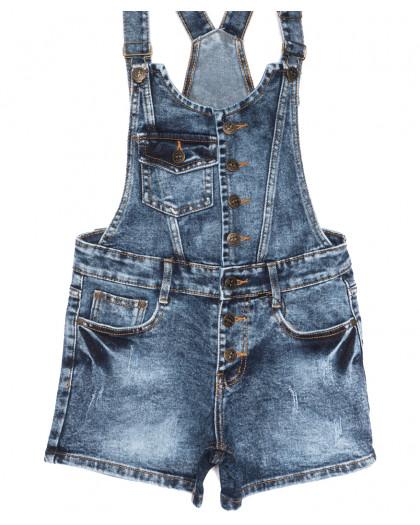 6614-2 Y Relucky комбинезон-шорты джинсовый синий летний стрейчевый (25-30, 6 ед.) Relucky