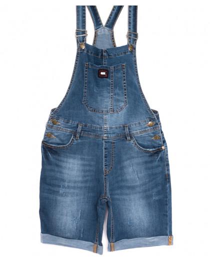 6616-2 Y Relucky сарафан джинсовый с царапками синий весенний стрейчевый (25-30, 6 ед.) Relucky