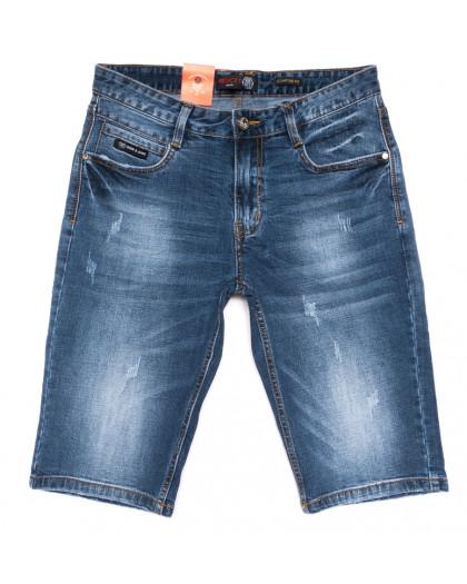 9918-3 R Relucky шорты джинсовые мужские синие стрейчевые (29-38, 8 ед.) Relucky
