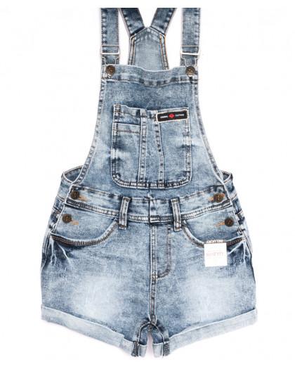 6610-2 Y Relucky комбинезон-шорты джинсовый синий летний стрейчевый (25-30, 6 ед.) Relucky
