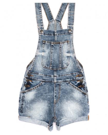 6613-2 Y Relucky комбинезон-шорты джинсовый синий летний стрейчевый (25-30, 6 ед.) Relucky