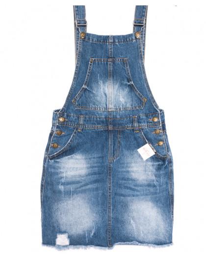 3309-5 Y Relucky сарафан джинсовый синий весенний стрейчевый (25-30, 6 ед.) Relucky