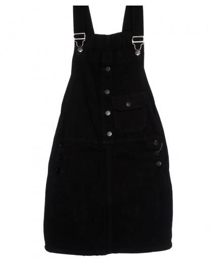 3315-5 Y Relucky сарафан джинсовый черный весенний стрейчевый (25-30, 6 ед.) Relucky
