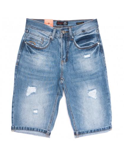 8815-4 R Relucky шорты джинсовые мужские полубатальные синие стрейчевые (28-36, 8 ед.) Relucky