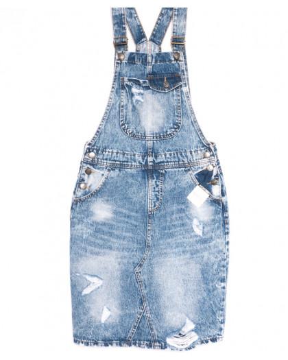 3306-5 Y Relucky сарафан джинсовый стильный синий весенний стрейчевый (25-30, 6 ед.) Relucky