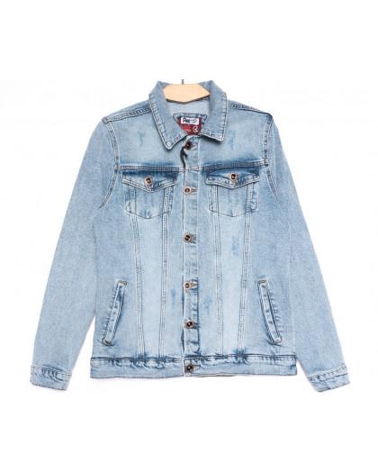 0648 Redmoon куртка джинсовая мужская синяя весенняя стрейчевая (S-XL, 4 ед.) REDMOON