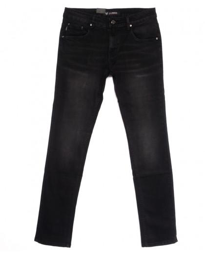 1057 LS джинсы мужские молодежные черные весенние стрейчевые (28-36, 8 ед.) LS