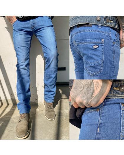 6006 Pobeda джинсы мужские синие весенние стрейчевые (30-40, 8 ед.) Pobeda